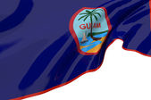 Illustration flags of Guam — Stock Photo
