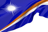 Illustration flags of Marshall Islands — Stock Photo