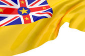 Illustration flags of Niue — Stock Photo