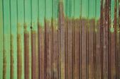 Old zinc fence background — Stock Photo