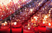 Red candles of fortune — Stock fotografie