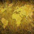 Global map on grunge textured — Stock Photo #12212388