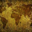 Royalty-Free Stock Photo: Global map on grunge textured