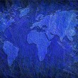 Global map on grunge textured — Stock Photo