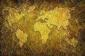 Globální mapa na grunge texturou — Stock fotografie