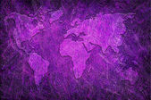 Global map on grunge textured — Foto Stock
