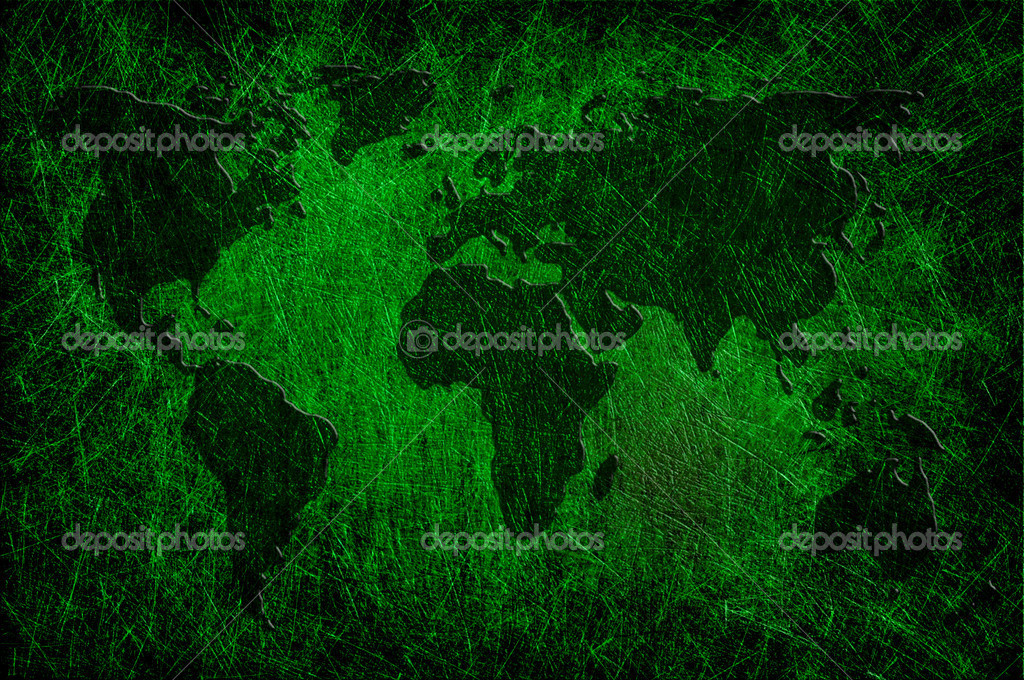Global map on grunge textured — Stock Photo #12213336
