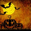 Grunge textured Halloween night background — 图库照片
