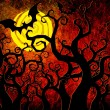 Grunge textured Halloween night background — Stock Photo