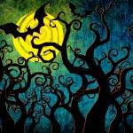 Grunge textured Halloween night background — Stock Photo #12243837