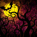 Grunge textured Halloween night background — Stock Photo #12243873