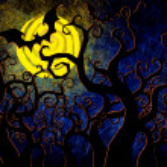 Grunge textured Halloween night background — Stock Photo #12243901