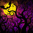 Grunge textured Halloween night background — Foto Stock