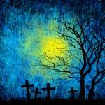 Grunge textured Halloween night background — Stock Photo #12244520