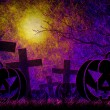 Grunge textured Halloween night background — Foto de Stock