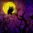 Grunge textured Halloween night background — Stock Photo #12245970