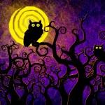 Grunge textured Halloween night background — Stock Photo