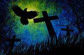 Grunge textura de fondo de la noche de halloween — Foto de Stock