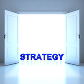 Strategy word conceptual in the future — Stock Photo