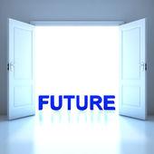 Framtiden för word konceptuella i framtiden — Stockfoto