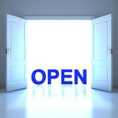 単語の概念を将来的にオープンします。 — ストック写真