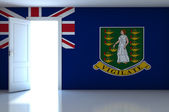 British Virgin Islands flag on empty room — Stock Photo