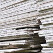 Stacking of gypsum sheets — Stock Photo