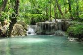 Eravan Waterfall, Kanchanabury, Thailand — Stock Photo