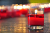 Red candle of fortune — 图库照片