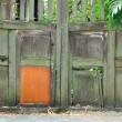 Wooden door of old barn — Stock Photo