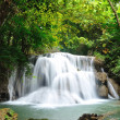 Hui Mea Khamin Waterfall, Kanchanabury, Thailand — Stock Photo