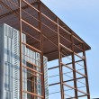 Steel building construction framework — Stock Photo