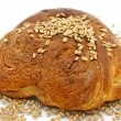 Sweet loaf with wheat — Stock Photo