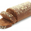 Chocolate Swiss roll closeup — Stock Photo
