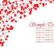 Foto Stock: Red hearts confetti