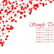 Red hearts confetti — Stockfoto #10815494