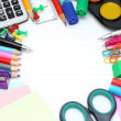 School office supplies — Foto de stock #10815837
