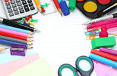School office supplies — Stockfoto