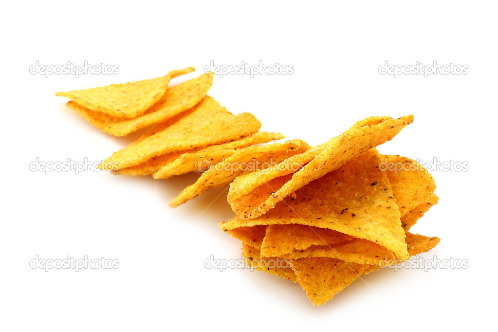 Mexican nachos on white background  — Stock Photo #10815785