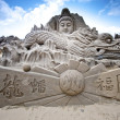 Buddha sand sculpture - Stock Photo