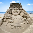 Shrek sand sculpture - Stock Photo