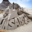 Nba player linsanity sand sculpture — Stock Photo