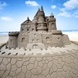 Foto Stock: Castle sand sculpture