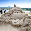 Stock Photo: Dophin sand sculpture