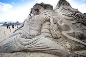 Hbl gracz wang piasku rzeźby — Zdjęcie stockowe