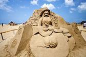 Sångaren fong sand skulptur — Stockfoto