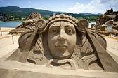Escultura de arena de la reina — Foto de Stock