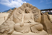 Buddha sand skulptur — Stockfoto