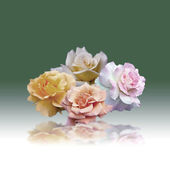 四朵玫瑰 — 图库照片