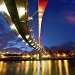 Sunset with bridge — Stock Photo